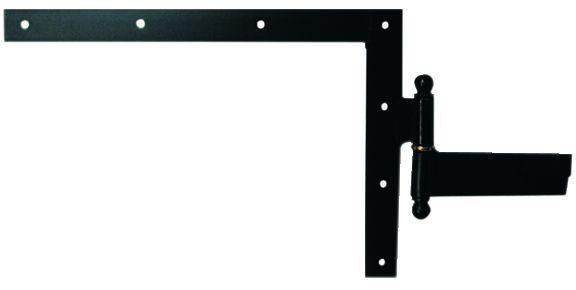 Ferrure de volet et portail : Equerre du haut à gond à scellement acier cataphorèse noir