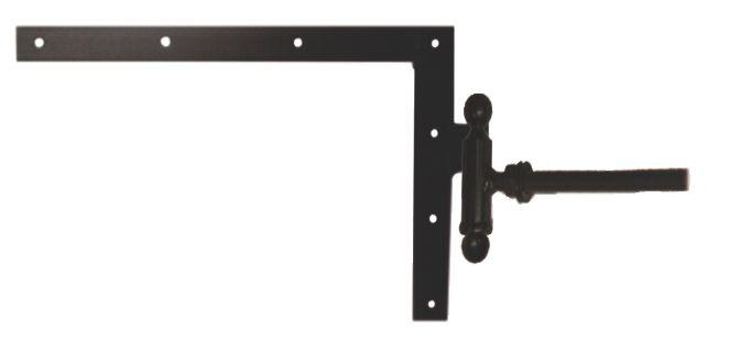 Ferrure de volet et portail : Equerre du haut à gond à scellement chimique acier cataphorèse noir