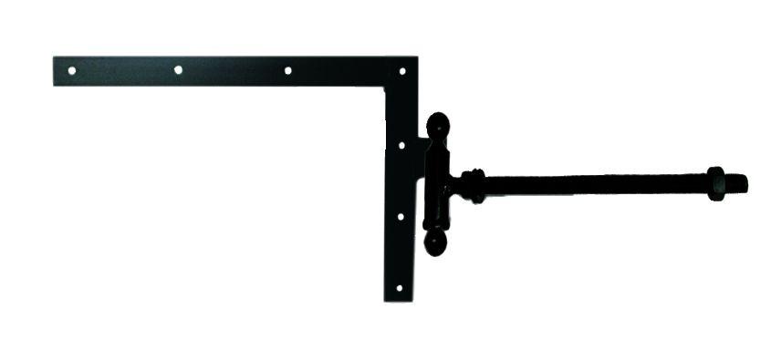 Ferrure de volet et portail : Equerre du haut à tige filetée acier cataphorèse noir