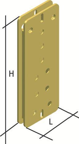 Connecteur métallique assemblage bois : Étrier invisible
