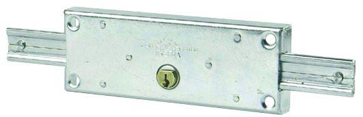Serrure de rideau métallique : A cylindre rond ø 25 mm