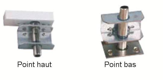Serrure multipoint en applique : Kit point haut et bas pour Exclusive 4 / 6 / 8 points réversible