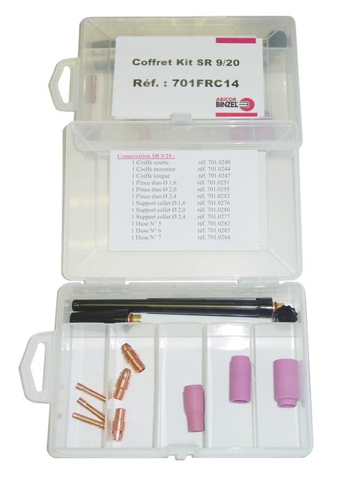 Torche de soudage Tig : Coffret de maintenance Tig pour torches SRL 9 / 20