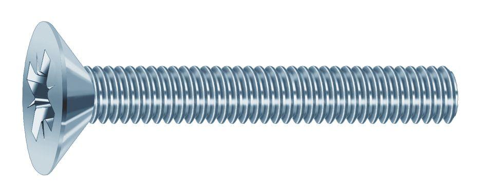 Vis métaux : Acier zingué - DIN 965