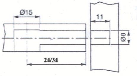 GOUJON RAPIDE A EXPANSION D8 LG24