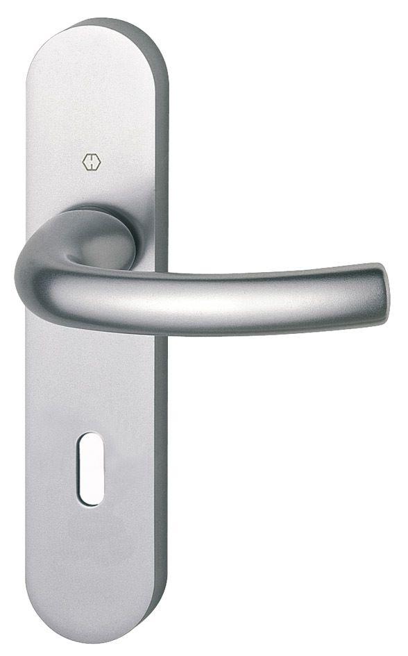 Ensemble aluminium anodisé : Plaque 190 x 41 mm - entraxe de fixation 165 mm