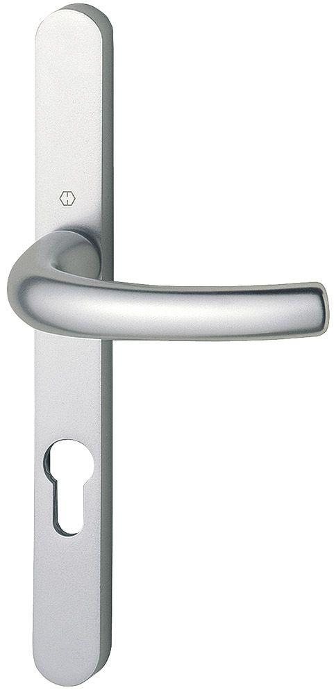 Ensemble aluminium anodisé : Plaque étroite 234 x 24 mm - entraxe de fixation 195 mm