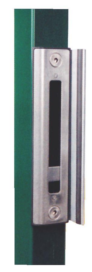 Serrure de grille à larder : Gâche pour serrure à crochet H-Métal