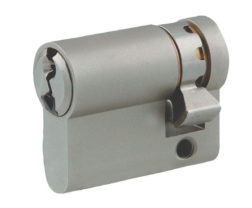Cylindre européen 5 goupilles : Demi-cylindre laiton nickelé