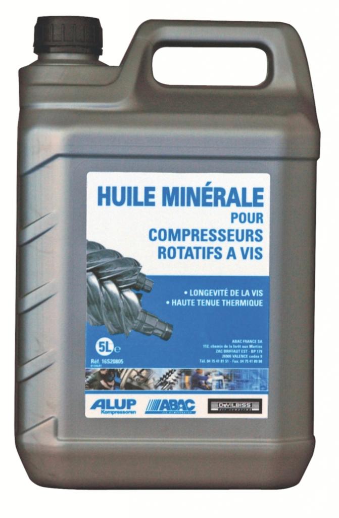 Compresseur d'air : Huile minérale pour compresseurs à vis