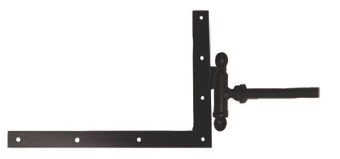 Ferrure de volet et portail : Equerre du bas à gond à scellement chimique acier cataphorèse noir