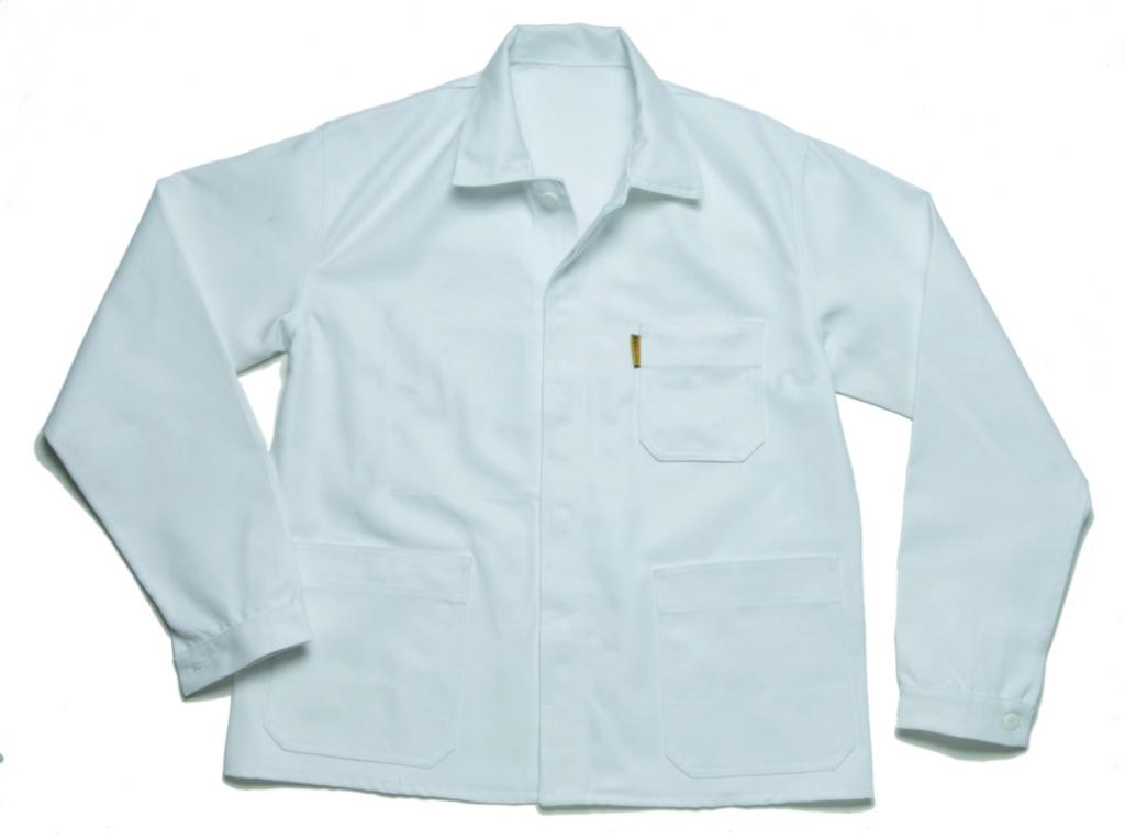 Vêtement de travail : Pantalon et veste blanc 100% coton