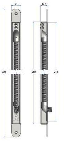 Alimentation et accessoire : Flexible à encastrer en acier chromé - ouverture 100°