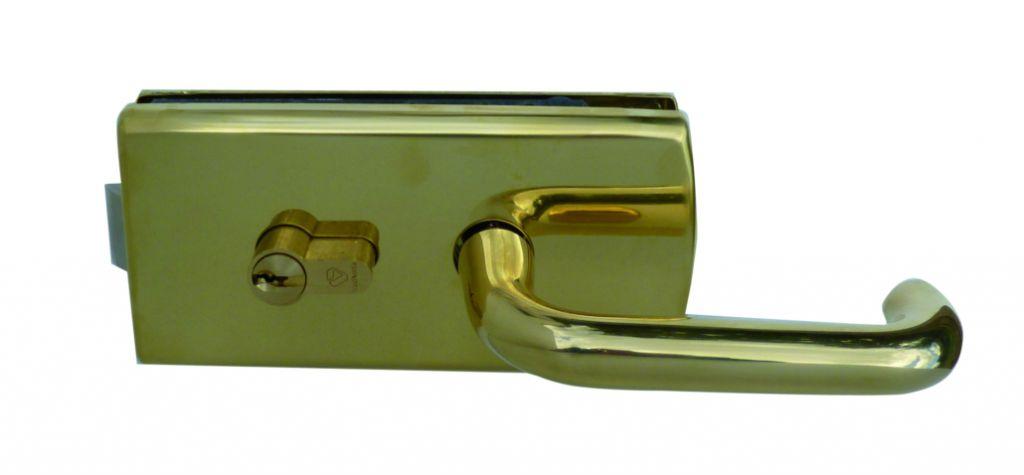 Serrure de porte verre Stremler : Serrure à encoche 64A et épaisseur de glace de 8 à 10 mm