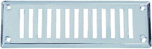 Ventilation : Permanente en applique - rectangulaire laiton chromé