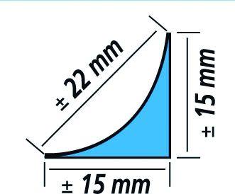 PROFIL ETANCHEITE ALU CONGES 3M15