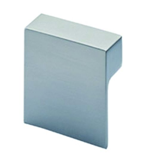 Garniture contemporaine : Bouton carré Venusia zinc