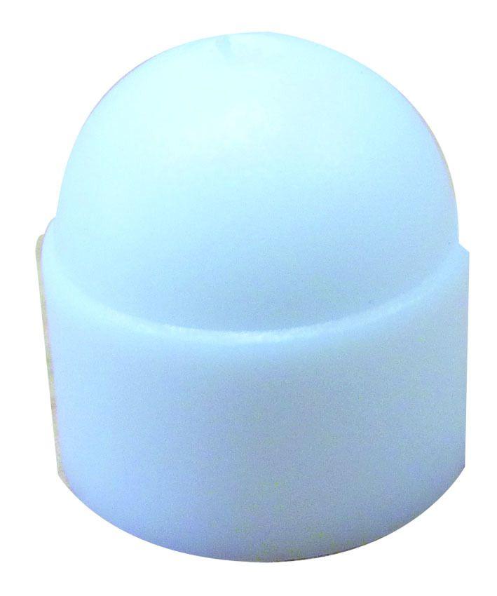 CACHE ECROU PLASTIQUE M 6 BLANC