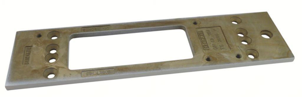 Ferme-porte à crémaillère Geze : Plaque de montage pour TS 3000 V