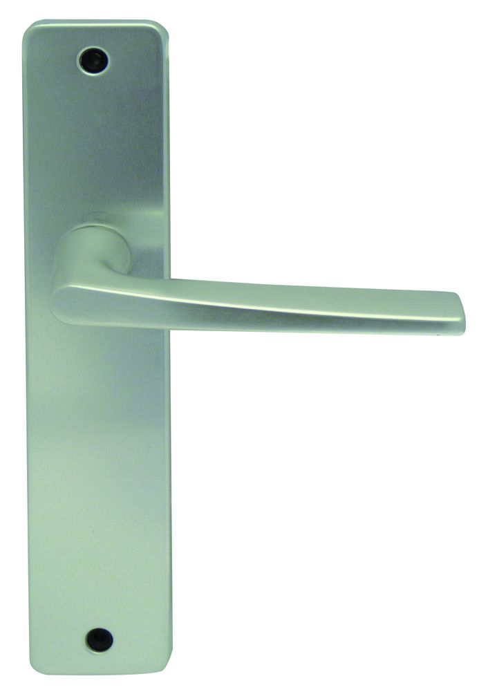 Ensemble aluminium anodisé : Plaque 220 x 42 mm