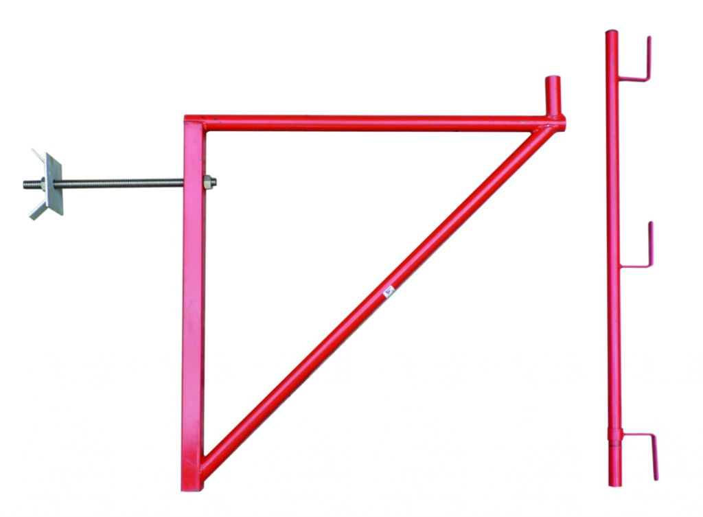 Echafaudage : Console de façade compatible planche acier