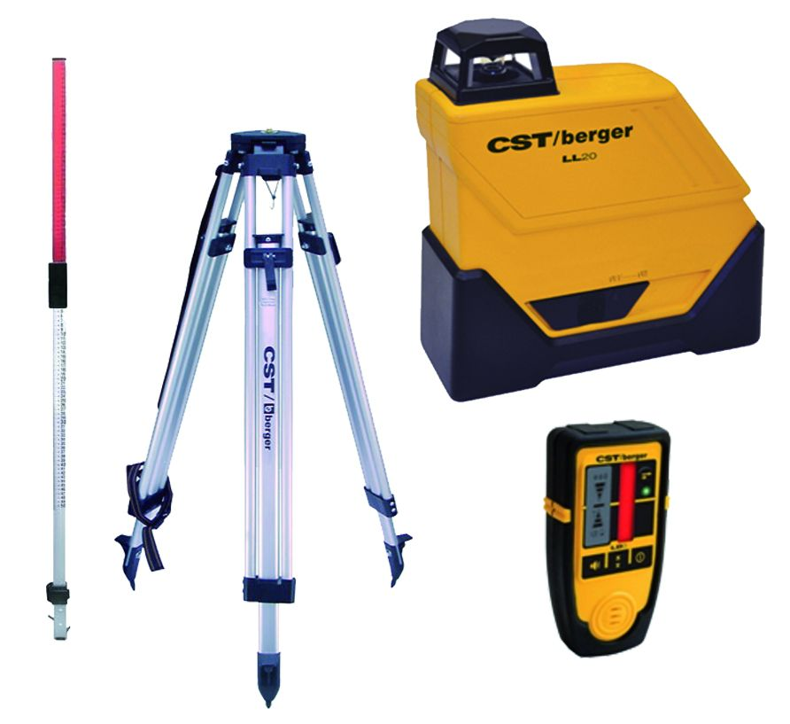 Laser de chantier : Pack laser ligne fixe 360° LL 20