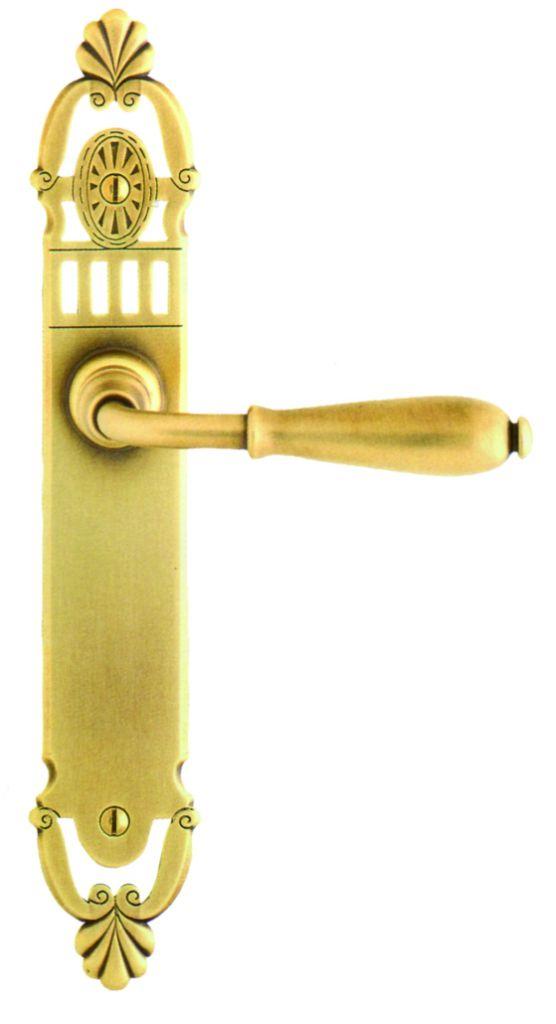 Garniture laiton patiné : Plaque 288 x 49 mm - entraxe 195 mm