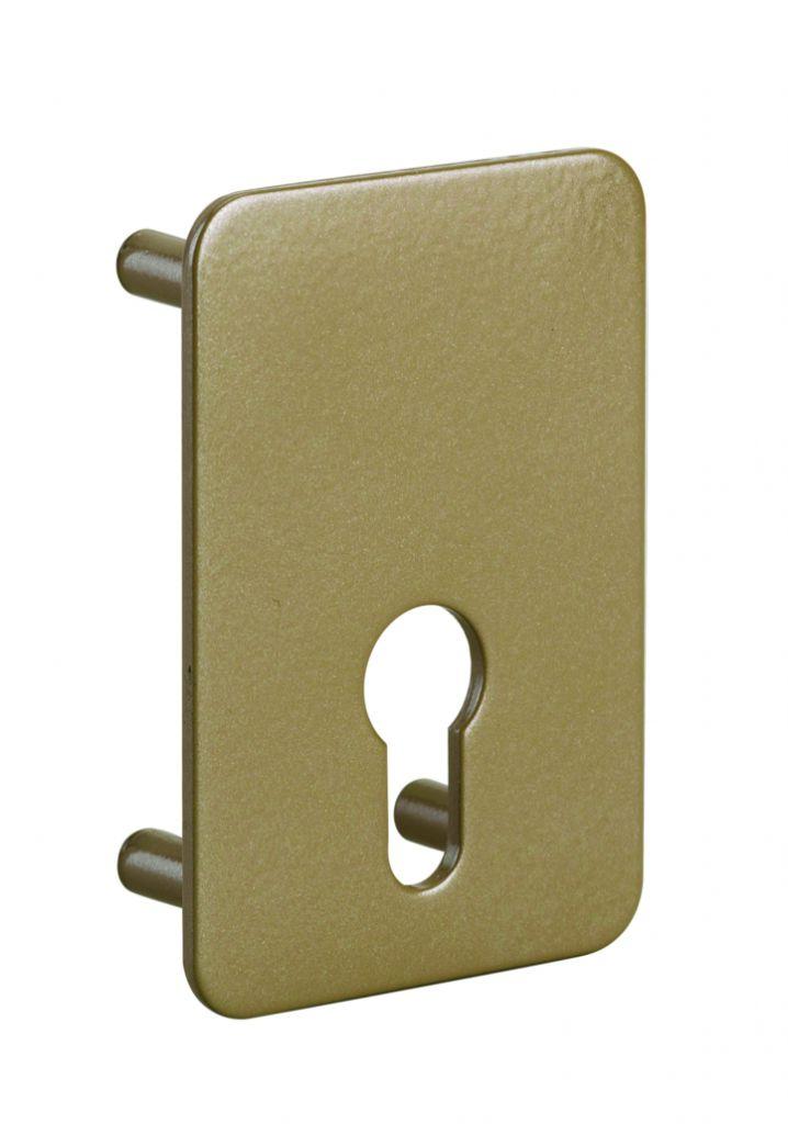 Coffre verrou : Contre-plaque pour boîtier de verrou à cylindre profilé