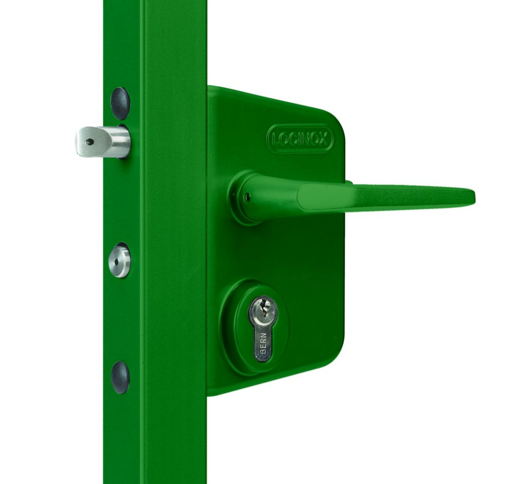 Serrure de grille en applique : Serrure industriel pour portail battant - LAKQ