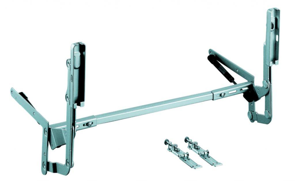 Agencement de cuisine : Ferrure lift avec vérins pour meuble de 450 à 600 mm