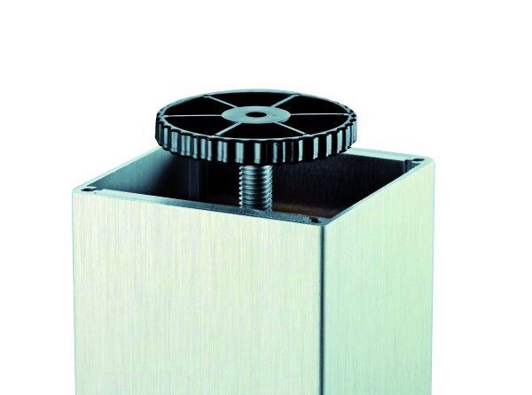 Pied de table carré : Aluminium