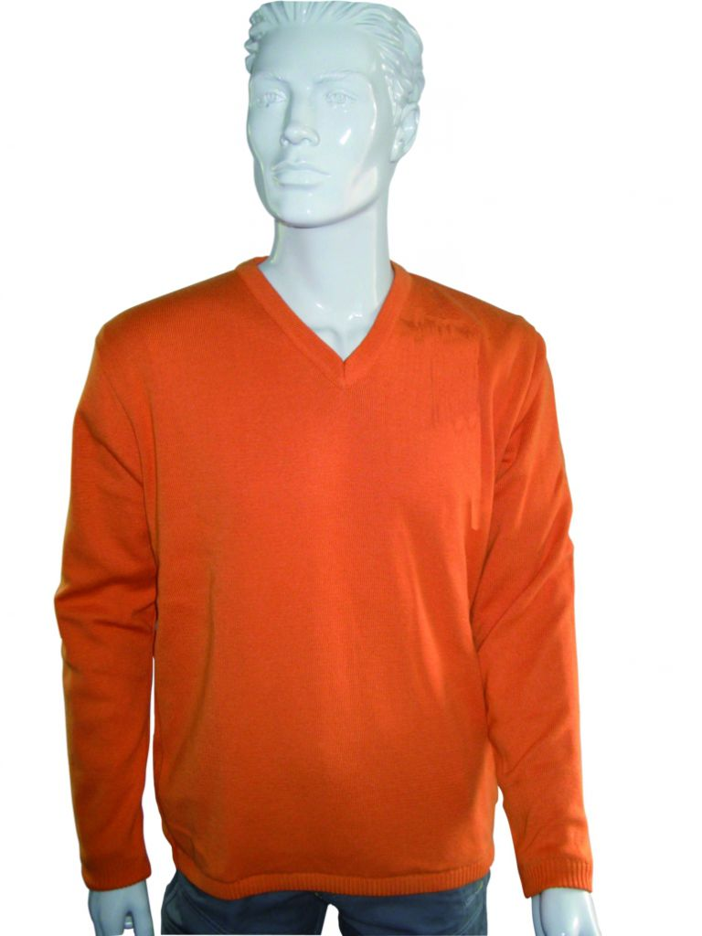 PULL JAMES COL V ROUILLE TAILLE 3XL