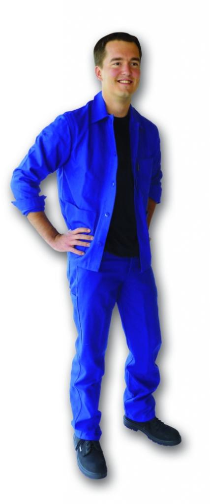 Vêtement de travail : Veste et pantalon Mercure bleu bugatti