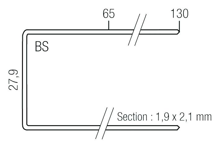 Agrafage et clouage pneumatique : Agrafe type SP pour WC 330-SP
