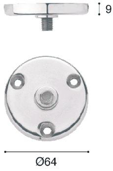 Pied de meuble rond : Platine de fixation M10 pour pied