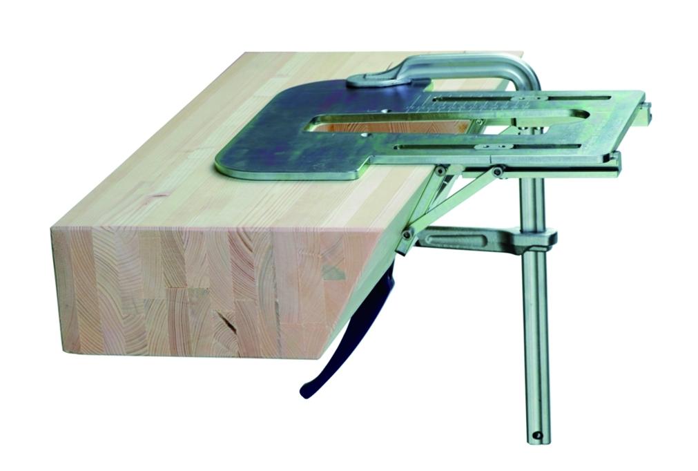 Défonceuse : Set gabarit queue d'aronde inclinable +50° / 90° / –50°