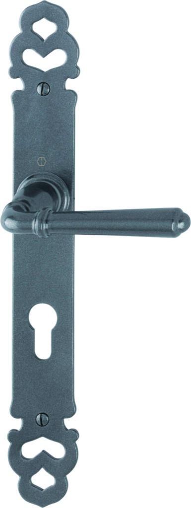 Garniture aluminium : Plaque 300 x 42 mm - entraxe de fixation 195 mm gris métallisé anthracite