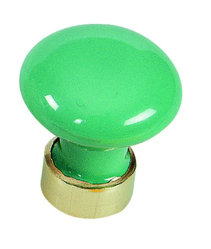 Garniture classique : Bombé - porcelaine de couleurs - monture laiton ø 30 mm