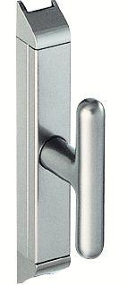 Crémone en applique : Boîte et garniture - aluminium anodisé