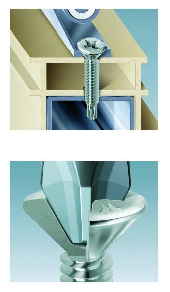 Vis pour menuiserie PVC : Acier - filetage total - tête fraisée réduite Philipps pour menuiserie PVC