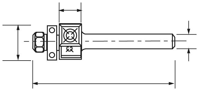 MECHE AFFLEURAGE DTE PLAQ.HM Q6 D19