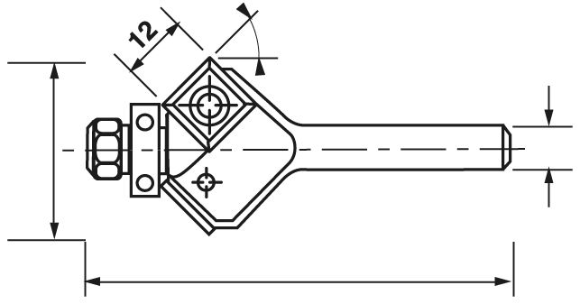 MECHE A CHANFREINER HM Q6 D26 LT62