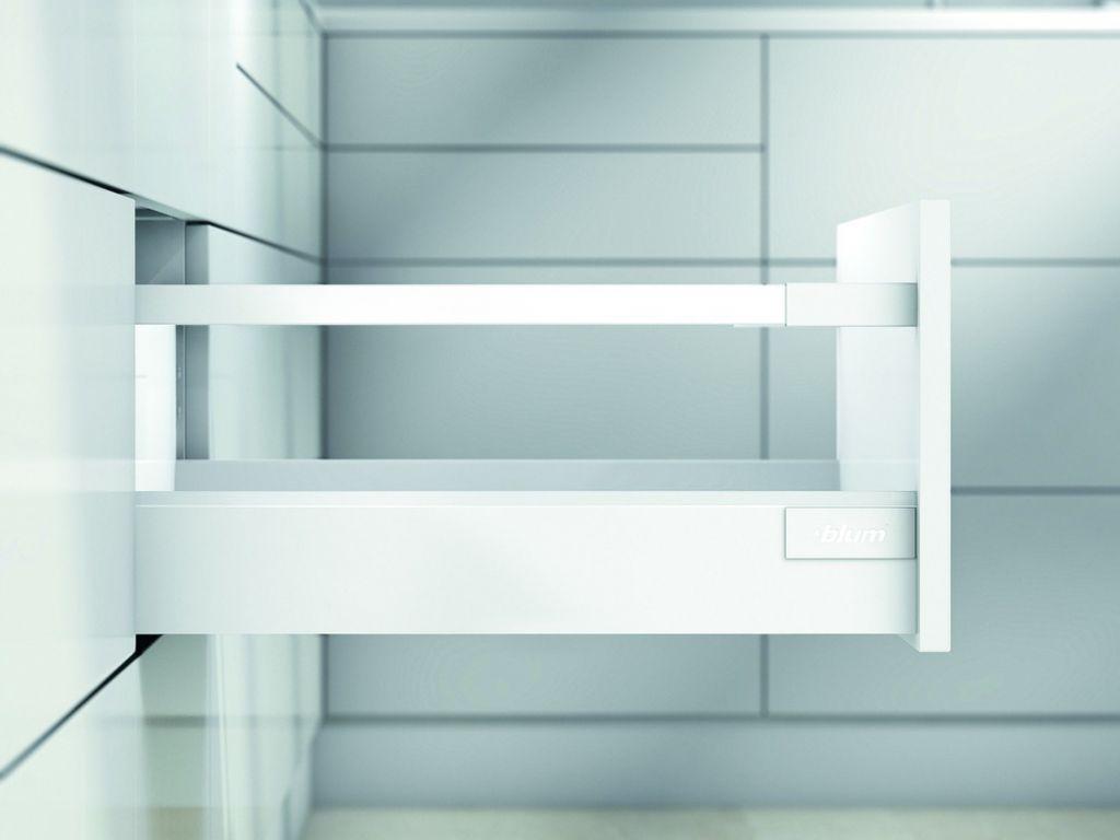 Kit tiroir double paroi Blum - antaro - TIP-ON : Kit antaro TIP-ON hauteur D : 228 mm - blanc