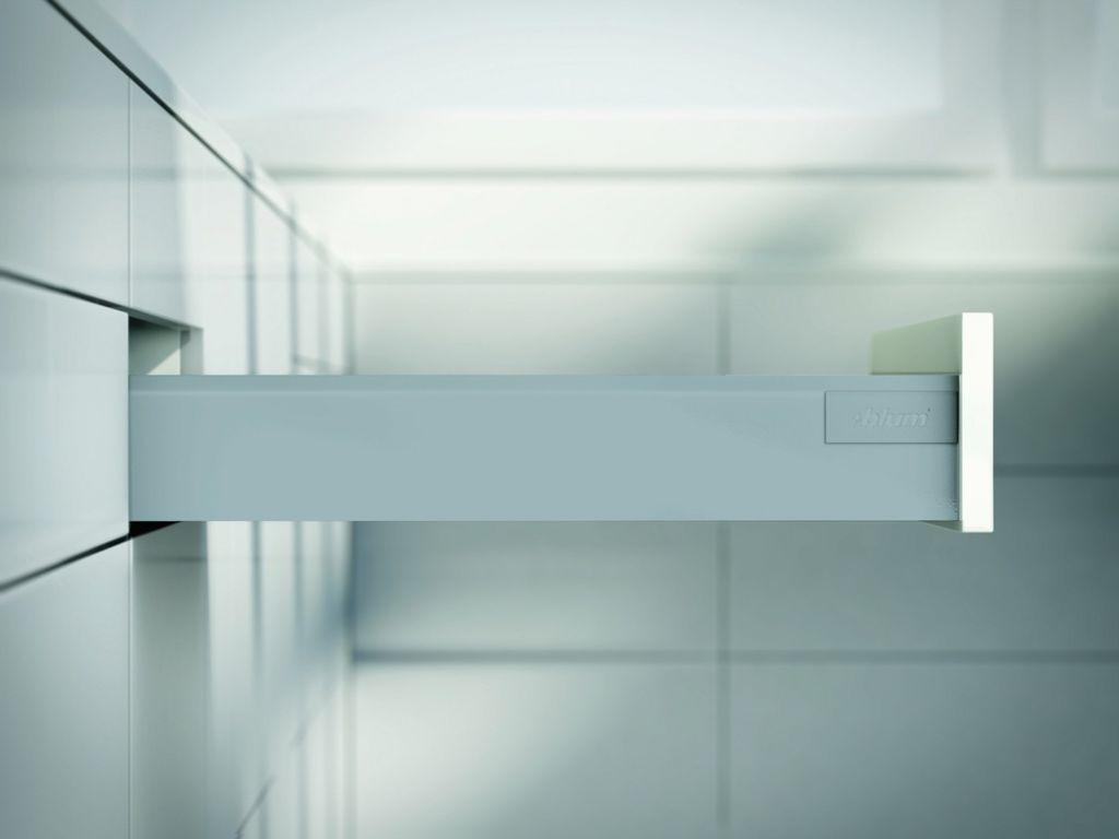 Kit tiroir double paroi Blum - antaro - TIP-ON : Kit antaro TIP-ON hauteur M : 98,5 mm - gris