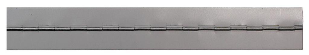 Charnière : Roulée - axe acier - épaisseur 0,6 mm