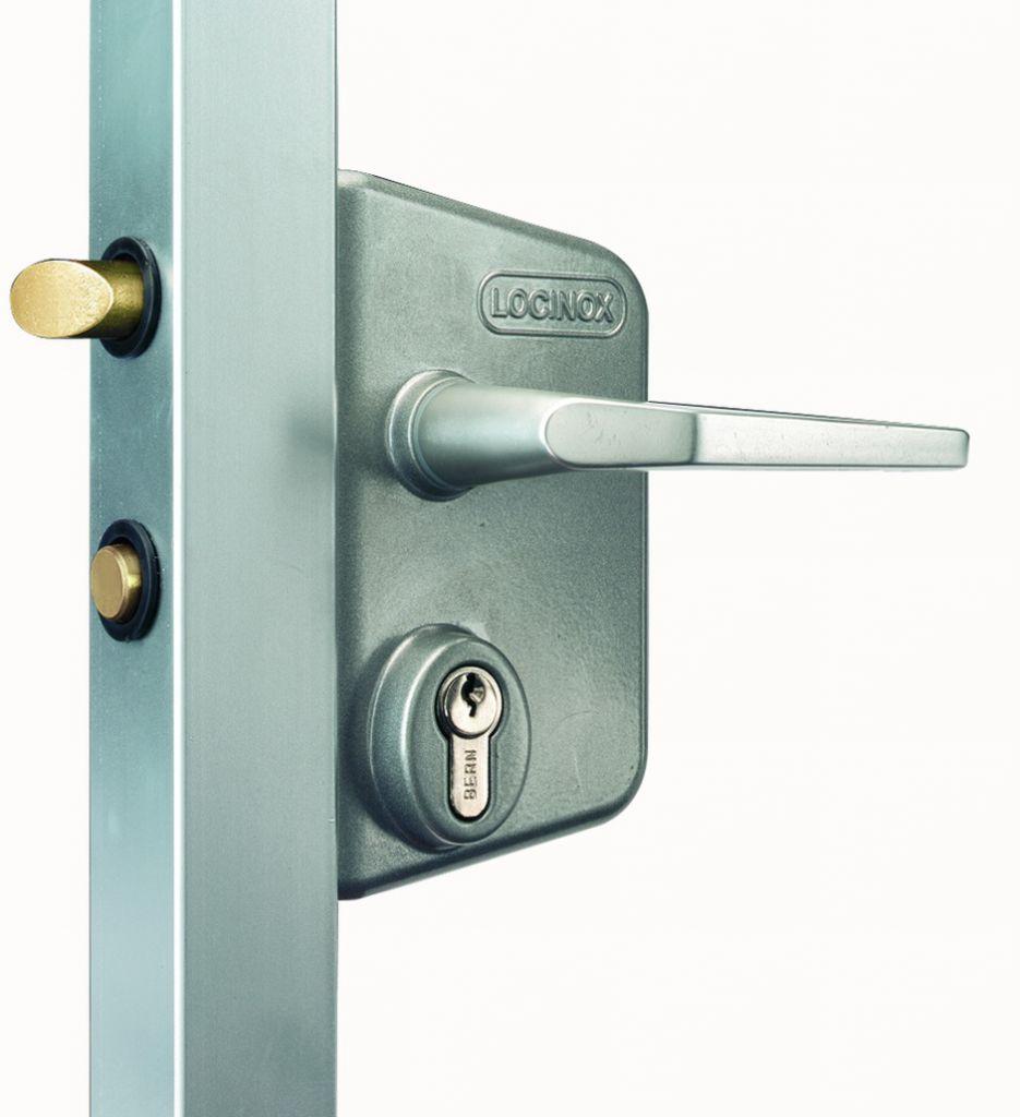 Serrure de grille en applique : Serrure industriel pour portail battant - LC