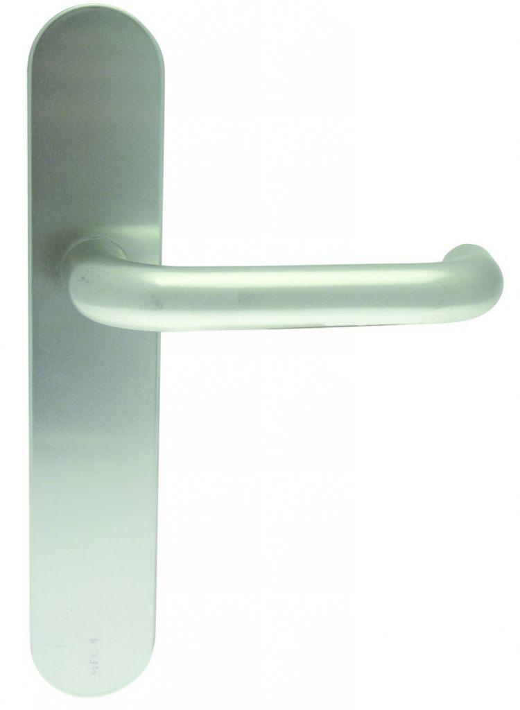Ensemble aluminium anodisé : Plaque 228 x 42 mm - entraxe de fixation 195 mm