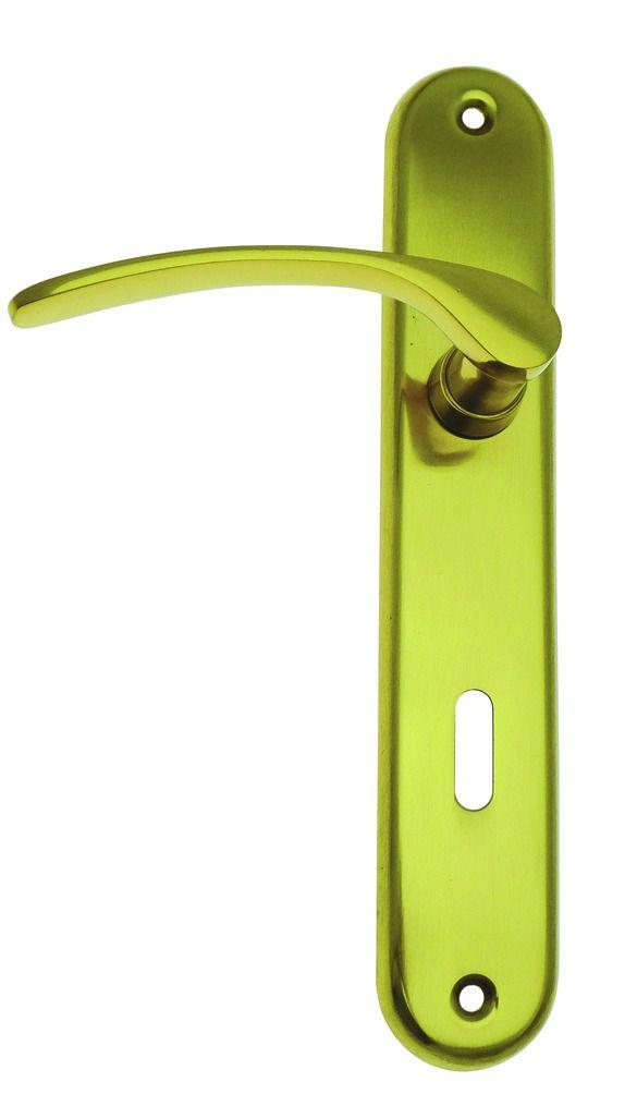 Garniture laiton : Plaque 235 x 39 mm - entraxe de fixation 195 mm