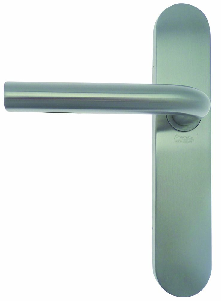 Garniture inox : Plaque 229 x 44 mm - entraxe de fixation 195 mm