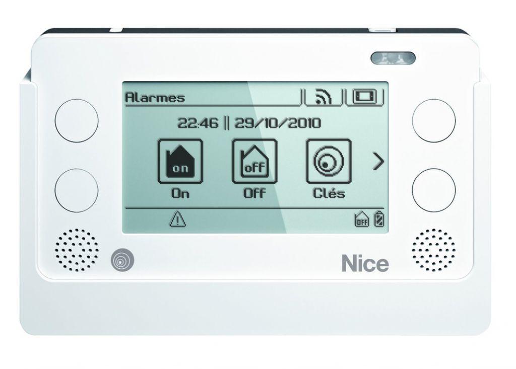 Solution domotique : Centrale radio autonome Nice Home System avec écran tactile